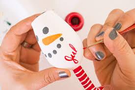 painted ornaments tutorial mini wine glasses consumer crafts