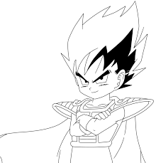 vegeta coloring pages vegeta lineart34 by prinzvegeta on deviantart