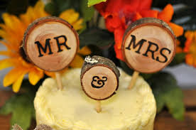 rustic wedding cake toppers 3pcs wedding cake decorations