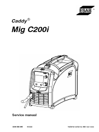 esab caddy mig c200i service manual electrostatic discharge