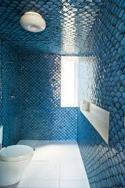 Blue And Green Bathroom Ideas Bathroom Design Ideas And More by Amazing Tile That The Homeowner Created And Fired And Painted