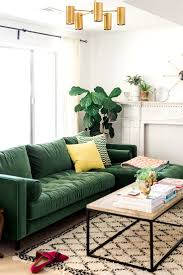 living room design with greenofaage in light paint color hunter