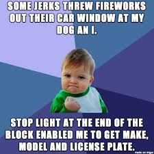 Fireworks Meme - fuck you my dog is scared to hell of fireworks meme guy