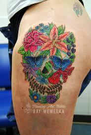 flower skull more and tattoos here faceboo flickr