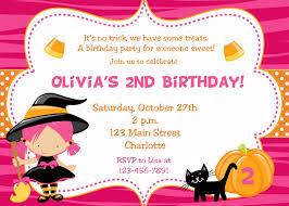 art birthday invitations halloween birthday invitations kids u2013 festival collections