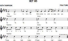 New Lyrics Hey Ho Welcome Song Beth S Notes
