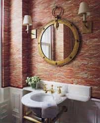 wallpaper bathroom ideas classic style wallpaper ideas for bathroom home interiors