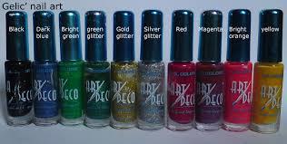 gelic u0027 nail art large fine liner striper nail art polish swatch guide