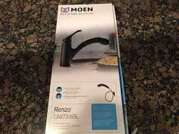 moen ca87316bl pullout spray faucet from the renzo collection