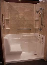 Bathroom Shower With Seat Looks Like A Idea But Once Your E Seated You Can T Reach The