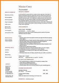 accountant resume format 7 accountant cv format driver resume