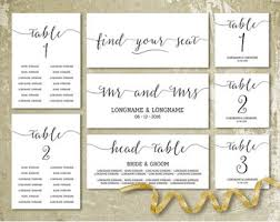 wedding seat chart template modern seating chart etsy