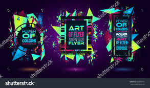 futuristic frame art design abstract shapes stock vector 663887101