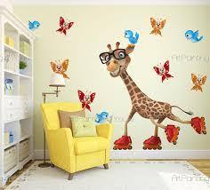 stickers girafe chambre bébé stickers muraux chambre bébé girafe artpainting4you eu vdi1231fr