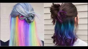 Can You Dye Halo Hair Extensions by Know About Magical Rainbow Hair Color Extensions Youtube