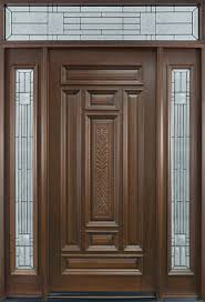 interior white modern stained solid wood single door safety door