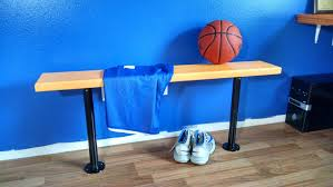 how to build a locker room style bench for boys bedroom