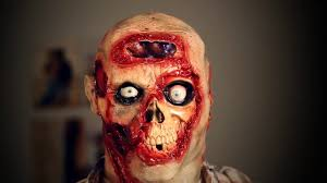 pulsing zombie brains digital mask for halloween halloween masks