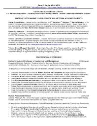 marine resume examples marines resume example