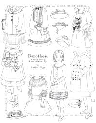 helen page paper doll edwardian lady dorthea color u0026 cut for my