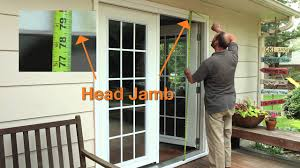 how to measure for a new prehung patio door youtube