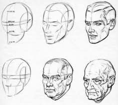 how to draw aging faces and hands and where to draw wrinkles on