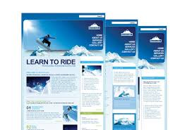 ski u0026 snowboard instructor web template pack from serif com