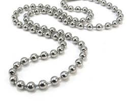stainless steel ball necklace images Ball chain etsy jpg