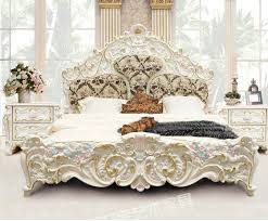 Luxury French Style And Italian Style Hand Carved Bed ODMK Home - French home furniture
