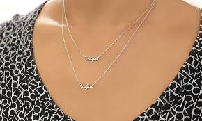 necklace names personalized name necklace monogram online groupon