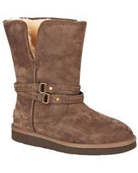 womens ugg palisade boots lyst ugg palisade boot in brown