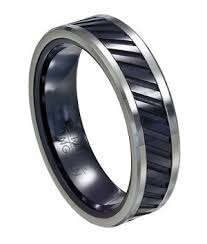 mens spinner rings men s spinning ring in tungsten and black ceramic