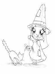 imagenes de halloween tiernas para colorear especial halloween divertido dibujo para colorear de una pequeña