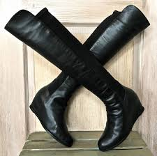 s boots 50 stuart weitzman black leather 50 50 the knee mainline stretch