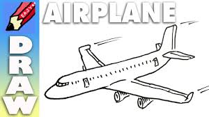 simple drawing of airplane draw a plane real easy youtube