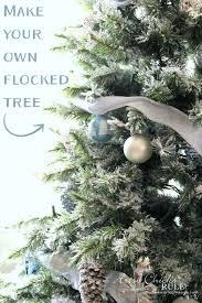 diy flocked tree thrifty decor artsy rule
