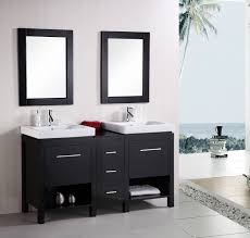 design element bathroom vanities design element york integrated porcelain drop in sink