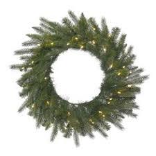 24 pre lit white cedar pine artificial wreath multi