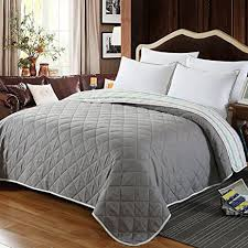 Summer Coverlet Amazon Com Newlake Thin Reversible Comforter Quilt Bed Coverlet