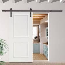 How To Make A Barn Door Track 10 Ft Sliding Barn Door Track Wayfair
