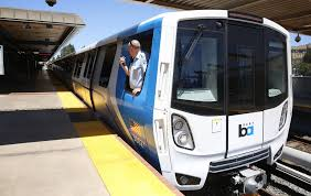 bart shows off new train cars sfgate