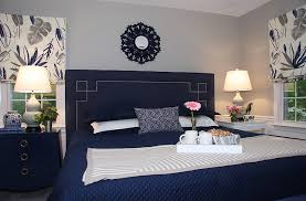 Pamela Harvey Interiors Gray And Navy Bedroom Transitional Bedroom Dc Metro By