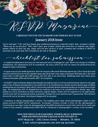 rsvp featured wedding submission information