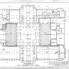 calisphere mezzanine floor plan san francisco city hall drawing