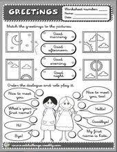 greetings worksheet clases de ingles pinterest worksheets