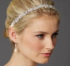 wedding headband clusters ribbon wedding headband bridal headband