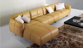 canape jaune cuir 20 design de canapé modulaire en cuir confortable designdemaison