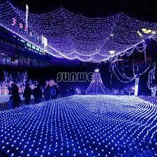 blue 100 led net mesh lights twinkle lighting