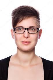 Moderne Kurze Haare by Geschäftsfrau Mit Modernen Kurze Haare Brille Stockfoto 94510766