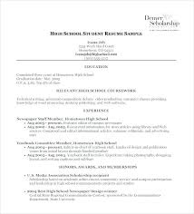 highschool resume template scholarship resume template high school resumes templates 9 free